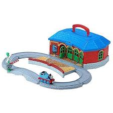 amazon com take along thomas friends work play roundhouse