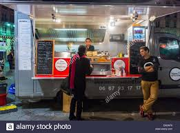 100 Outside The Box Food Truck Paris France People Buying Take Away At French Street