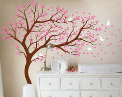 Tree Wall Decor With Pictures by Tree Wall Decal And Monogram Decal Wall Mural By Studioquee