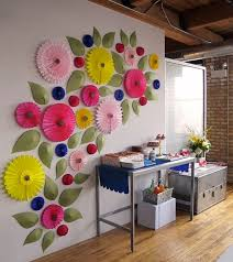 Giant Paper Flowers What A Great Craft Decorating Project To Do With Kids