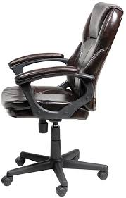 amazon com serta faux leather executive chair roasted chestnut