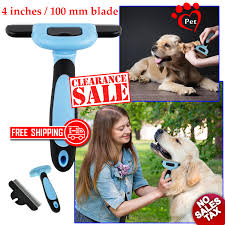 Dog Hair Shedding Blade by King Komb 3 Blade Dog Cat Deshedding Grooming Comb Brush Rake