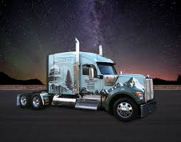 New Kenworth W990 Features Special Design For Christmas Tree Tour ...