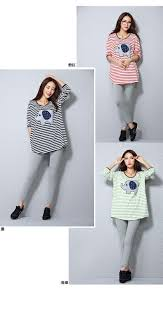 striped short sleeve t shirt 100 cotton maternity top clothes for