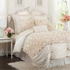 Lush Decor Belle 4 Piece Comforter Set by Lucia Ivory 4 Piece Comforter Set By Triangle Home Fashions