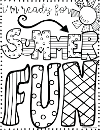 Printable Summer Coloring Pages Free Adults