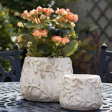 Pair Of Rustic Flower Pots
