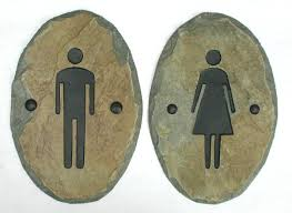 Printable Handicap Bathroom Signs by Slate Bathroom Signs Stone Door Plaque Ladies Men