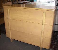 Heywood Wakefield Dresser With Mirror by Heywood Wakefield Bedroom Furniture