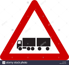 100 Truck Sign Warning Sign With Truck Symbol Stock Photo 164192990 Alamy