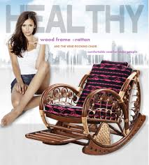 Rattan Rocking Chair Recliner For Elderly People Style ...