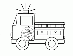 Fire Truck Coloring Page For Preschoolers, Transportation Coloring ...