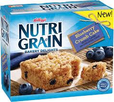 Kelloggs Nutri Grain Bakery Delights Blueberry Crumb Cake