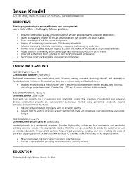 Resume Samples For Construction Workers Combined With Professional Worker Example Prepare Inspiring