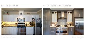 Fair Image Of Before And After Kitchen Remodels Decoration Using Light Gray Wood Cabinet Including