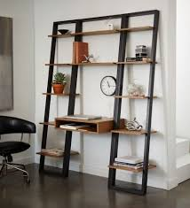 ✓ Custom Wenge Desk With Floating Shelves By Earl Kelly Furniture