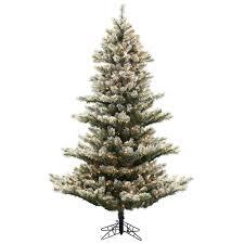 75Ft Lightly Flocked Fairbanks Pine Tree 700Clear Lights 1222 PVC Tips