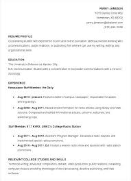 Resume Template College Student Download Free Professional Templates