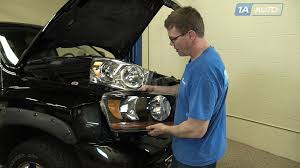 how to install replace headlights bulbs 2006 08 dodge ram