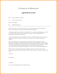 Simple Appointment Letter Format Doc Image collections Letter