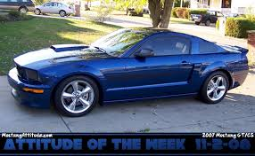 Vista Blue 2007 Ford Mustang GT California Special Coupe