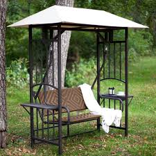 Better Homes And Gardens Patio Swing Cushions by 2 Person Patio Swing With Canopy Painted Steel Frame Weather