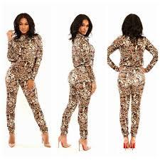 ladies leopard printed zipper boydcon stretch clubwear slim