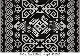 Vector Turkish Carpet Pattern Design