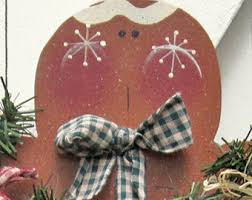 Gingerbread Christmas Yard Sign Decor Outdoor Decoration Wood Candy Canes Snowman