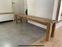 bank sitzbank massivholz eiche lang 180 esszimmer holz eichenbank