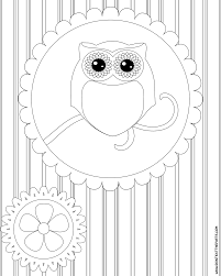 Fox And Owl Coloring Pages