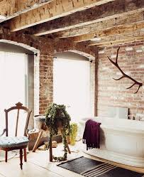 Chic Bathroom Decor Rustic Oval Porcelain Right Facing Wall