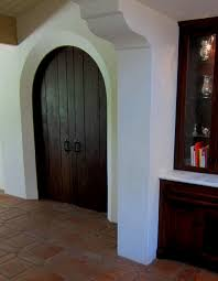 A Pair Of Rustic Spanish Style Interior Doors Mediterranean