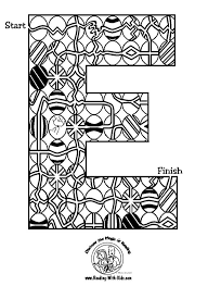 Easter Egg Letter E Maze