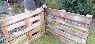 Assembling A Compost Bin Made From Pallets