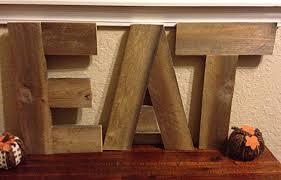 Reclaimed Pallet Wood EAT Sign Rustic Kitchen Decor Eat