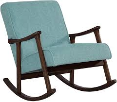 Amazon.com: Modern Rocking Aqua Blue Fabric Mid Century Wooden ... 10 Best Rocking Chairs 2019 Building A Modern Plywood Chair From One Sheet White Baby Rabbit With Short Ears Sitting On Wood Armchairs Recliner Ikea Striped Upholstered Mahogany Framed Parts Of Hunker Uhuru Fniture Colctibles Sold Rocker 30 The Thing I Wish Knew Before Buying For Our Buy Living Room Online At Overstock Find More Inoutdoor Classic Wooden Like Hack Strandmon Diy Wingback Interiors
