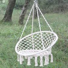 2018 Single Person Nordic Round Hammock Outdoor Indoor Sleeping Bed Children Swing Kids Adult Swinging Chair Safety Cotton Hanger From Georgen