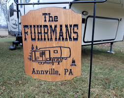 RV Decor Accessories Personalized Wooden Sign Camping Camper Rv