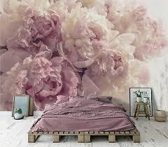 vlies fototapete schlafzimmer blumen 3d rosa pfingstrose romantisch beige ebay