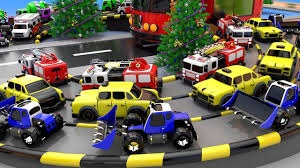 100 Big Toy Trucks Colors For Children To Learn With Vehicles Bus