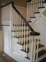 Wood Stairs And Rails And Iron Balusters: Stairway Renovation ... Oak Banister Neauiccom Chic On A Shoestring Decorating How To Stain Stair Railings And Oak Handrail Pig Sows Ear Balustrade Stair Rail Handle Best 25 Interior Railings Ideas Pinterest Stairs Case In You Havent Heard My House Has Lot Of Oak A So Wooden Railing For Lovely Home Varnished Wood Rails Iron Balusters Handrail Stair Rustic Remodelaholic Updating An Or White Walnut Banister Railing