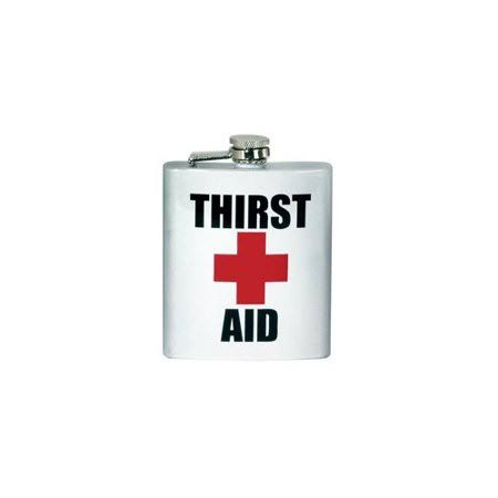 Spoontiques Hip Flask Thirst Aid - 7oz