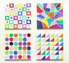 Sharpie Tile Art Via Pippa Quilts Create Beautiful And Colorful Patterns On Small Tiles These Would Make Wonderful Gifts As Magnets Or Coasters