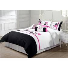 Pink Black and White Bedding • Stones Finds