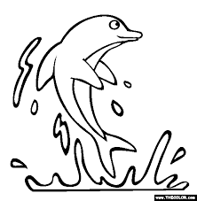 Inspiring Ideas Under The Sea Coloring Pages Dolphin Page