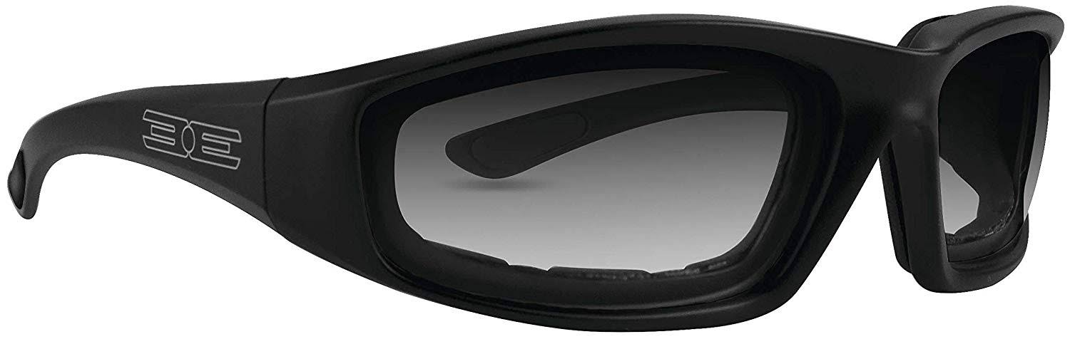 Epoch Foam Padded Photochromic Motorcycle Sunglasses - Black Frame/Clear Lens