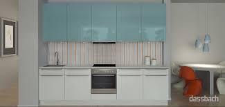 m002 puristische küchenzeile mit hochglanz fronten