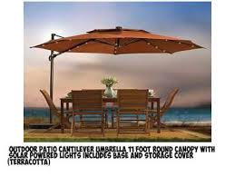 Sunbrella Patio Umbrellas Amazon by Which Is The Best Patio Umbrella With Lights And Base On Amazon