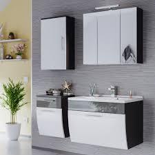 badmöbel set salona mit beleuchtung 6 teilig 110 cm breit weiß grau